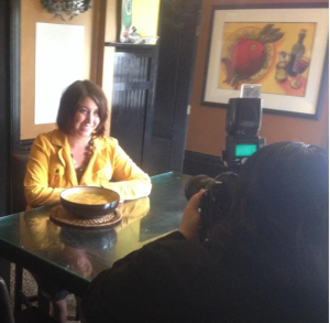 This is me a week ago, posing for photos for the local newspaper, where one of my recipes was being featured for Thanksgiving. A year ago, there is NO WAY I would have agreed to this.